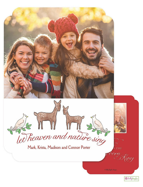 Heaven & Nature Sing Holiday Photo Card