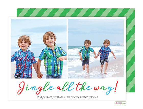Jingle All The Way Holiday Photo Card
