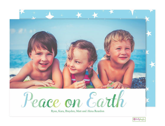 Peace On Earth Holiday Photo Card