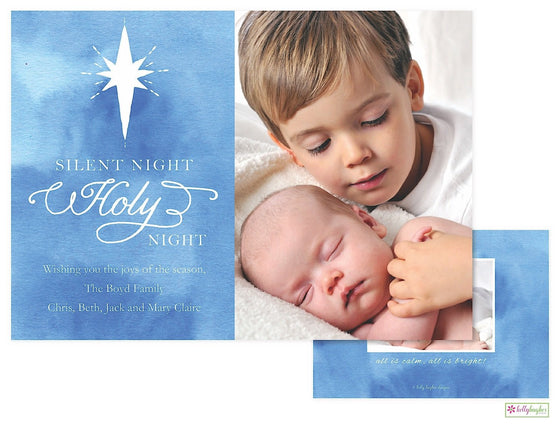 Silent Night Holiday Photo Card