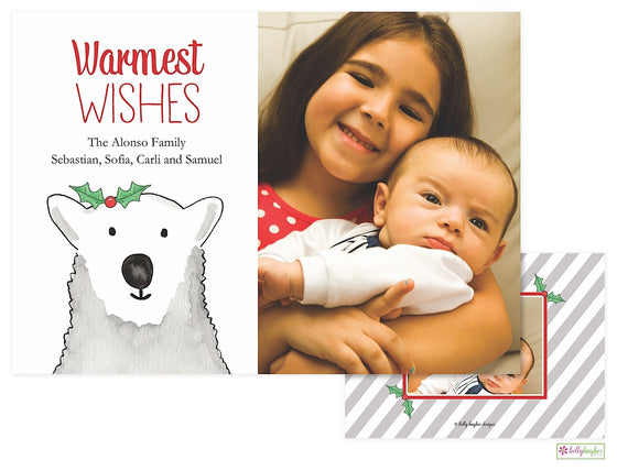 Polar Bear Holiday Photo Card