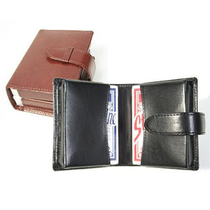 Monogrammed Leather Aristo Double Decker Playing Card Set