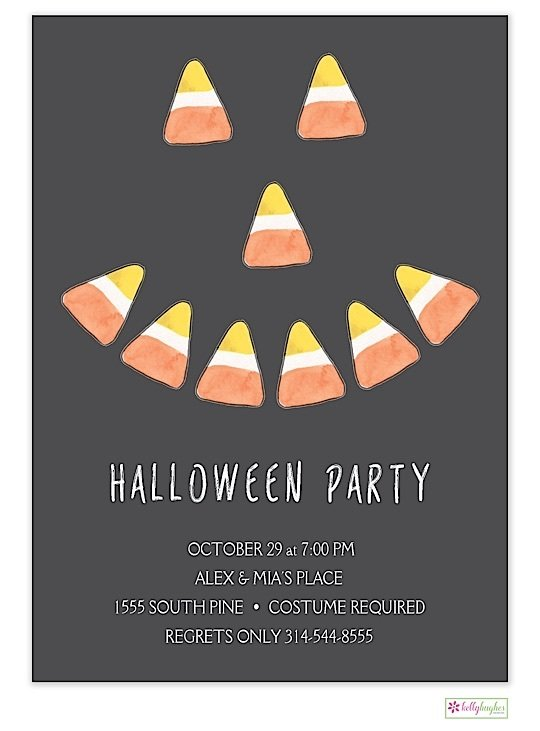 Candy Corn - Halloween - Holiday Invitation