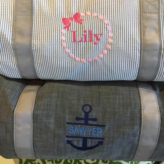 Monogrammed Medium Duffle