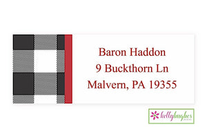 Buffalo Check Modern Address Labels