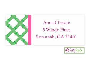 Green Bamboo Modern Address Labels
