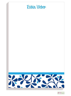 Personalized Blue China Modern Notepad