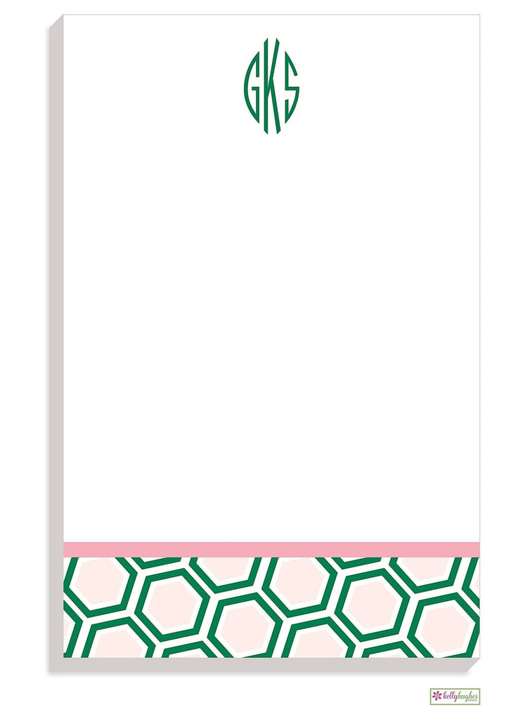 Personalized Honeycomb Modern Notepad