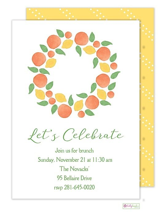 Winter Citrus - Fall Holiday Invitation