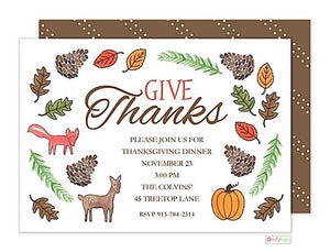 The Woodlands - Thanksgiving Holiday Invitation