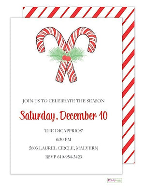 Candy Cane - Christmas Holiday Invitation
