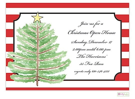 Oh Christmas Tree - Christmas Holiday Invitation