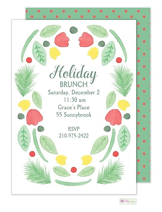 Winter Garden - Holiday Invitation