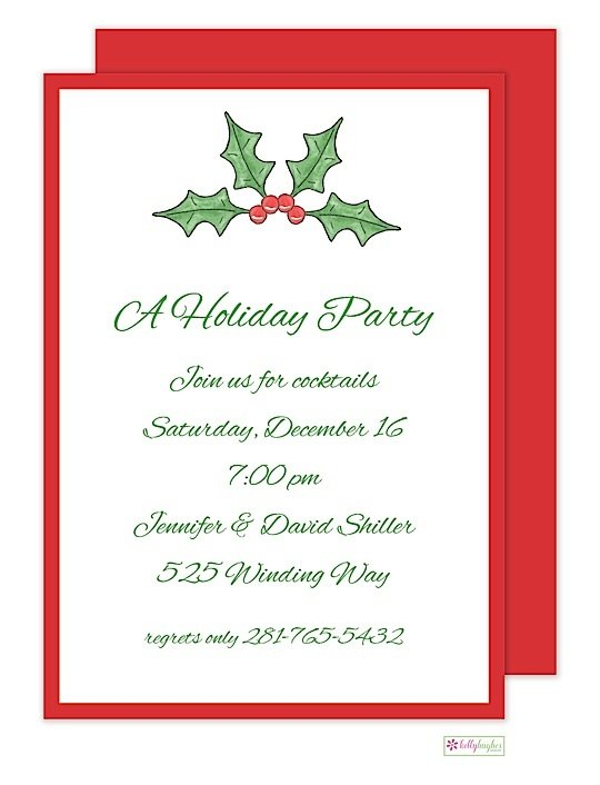 Holly & Berry - Christmas Holiday Invitation