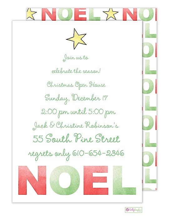 Noel Christmas Holiday Invitation The Monogram Merchant