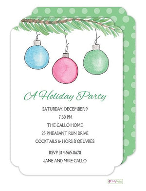 Trim The Tree - Christmas Holiday Invitation