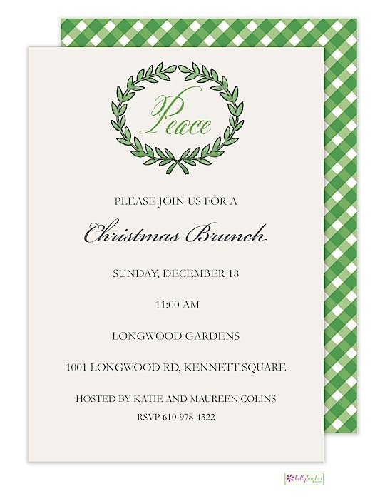 Olive Branch - Christmas Holiday Invitation