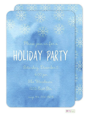 Snowflakes - Winter Holiday Invitation