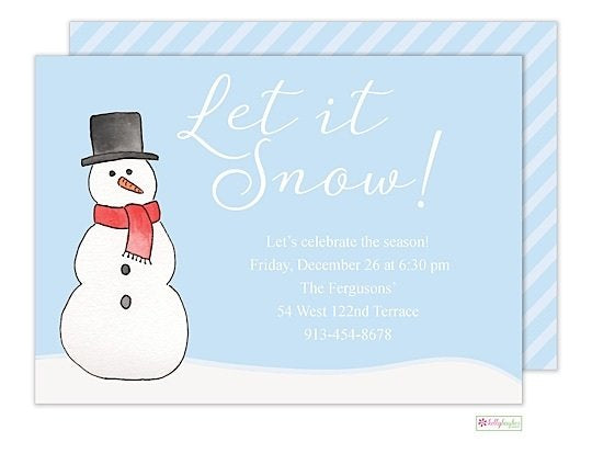 Let It Snow - Winter Holiday Invitation