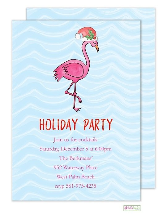 Fa-La-Lamingo - Christmas Holiday Invitation