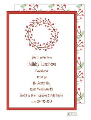 Winterberry - Christmas Holiday Invitation