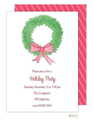 Fir Wreath - Christmas Holiday Invitation