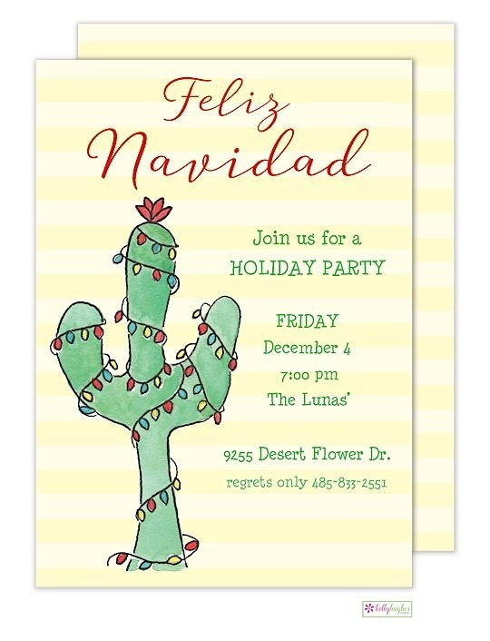 Feliz Navidad - Christmas Holiday Invitation
