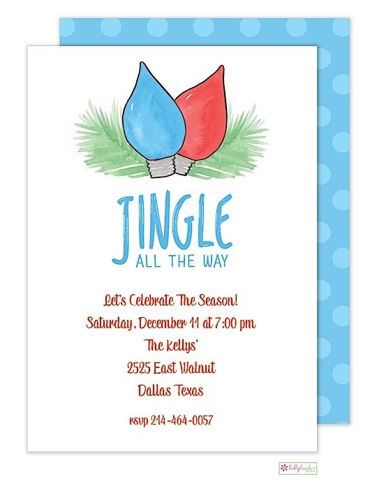 Jingle All The Way - Christmas Holiday Invitation