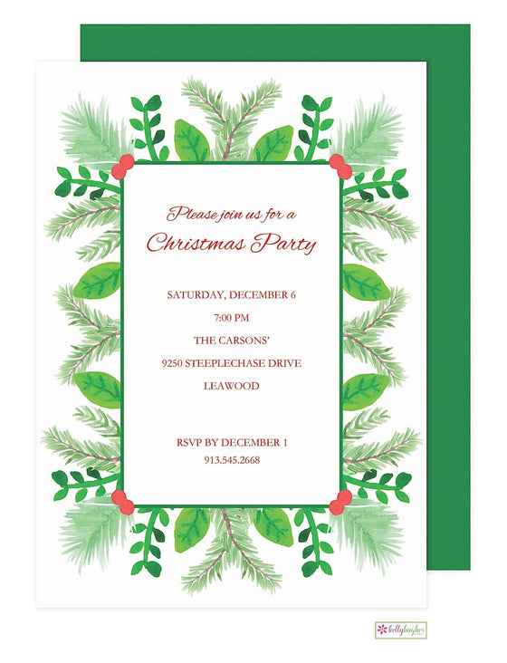 Christmas Greens -Christmas Holiday Invitation