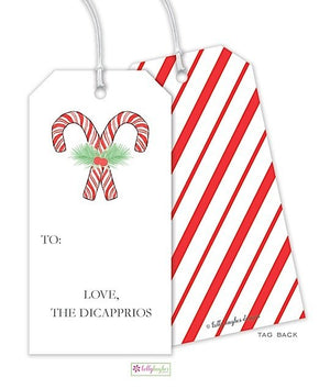 Candy Cane Stripe Gift Tag