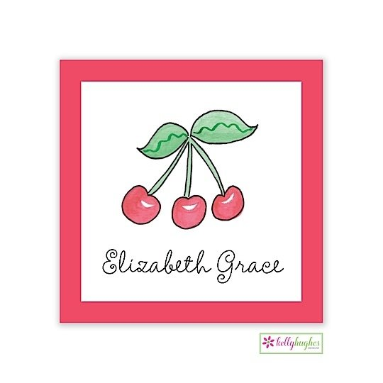 Rosy Red Cherries Classic Calling Card