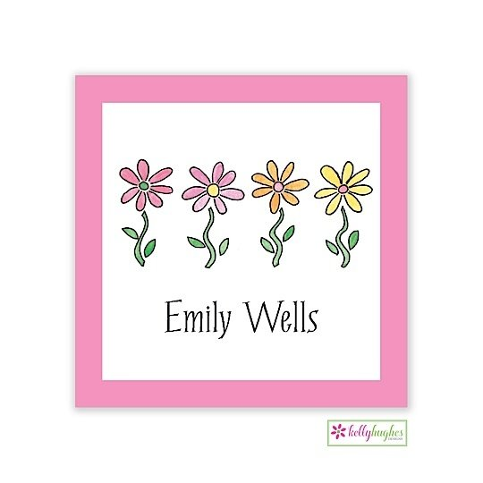 Row of Daisies Classic Calling Card
