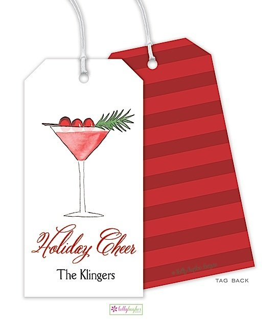 Cranberry Martini Gift Tag