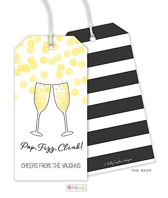 Champagne Toast Gift Tag