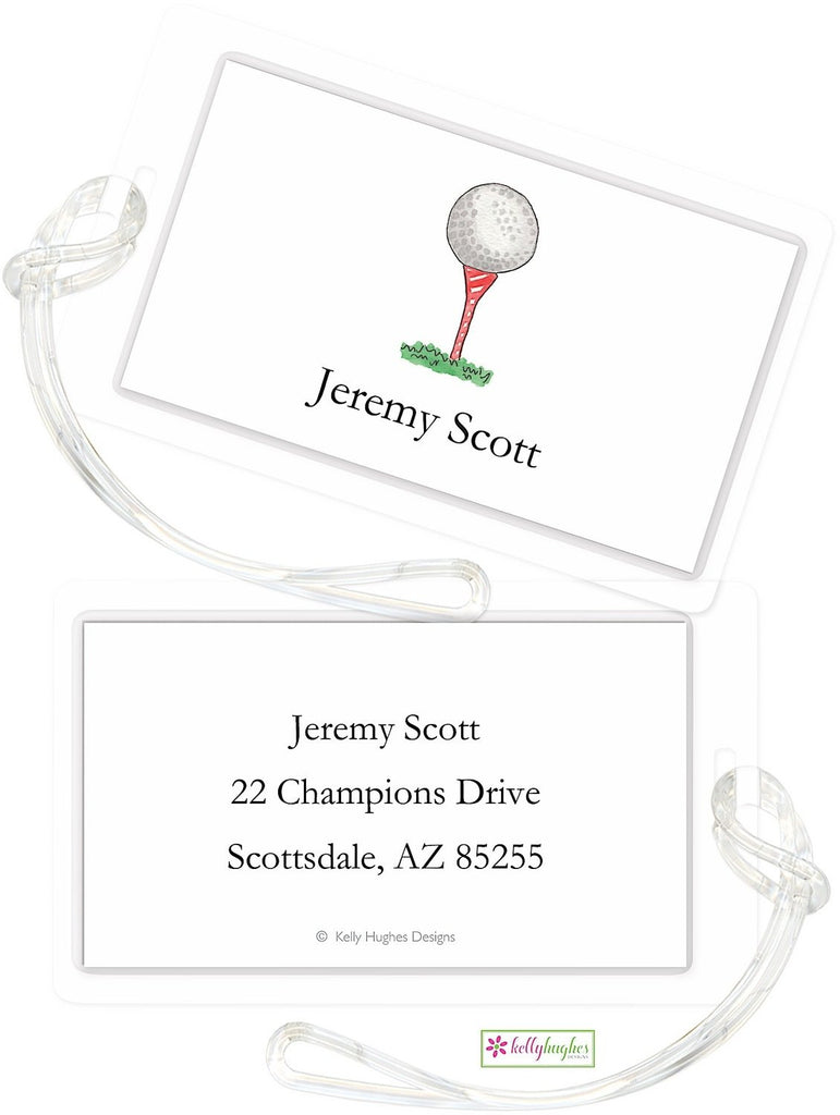 Personalized Golf Nut Classic Luggage Tags