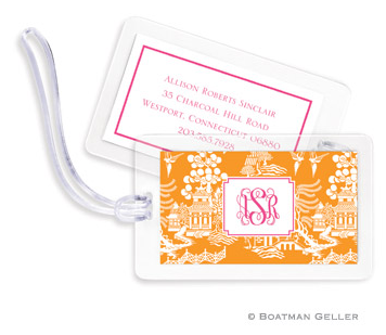 Chinoiserie Bag Tags Set