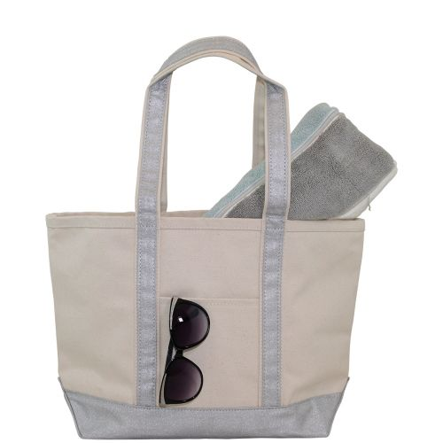 Personalized Medium Boat Totes (Metallic)