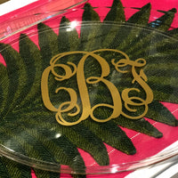 Oval Acrylic Tray with Handles