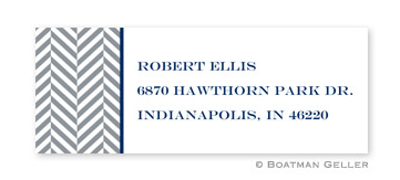 Herringbone Address Label