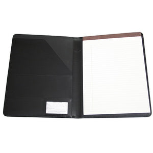 Monogrammed Leather Aristo PadFolio