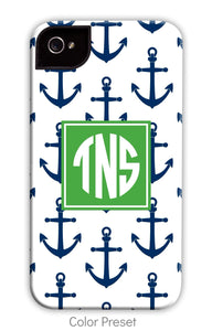 Anchor Blue Repeat Phone Case