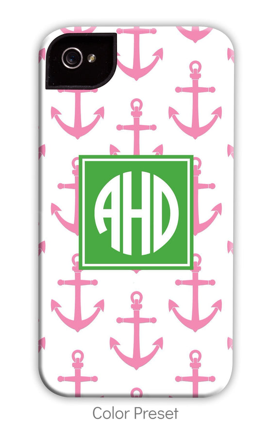 Anchor Pink Repeat Phone Case