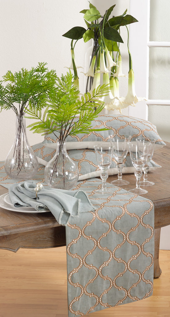 Dastin Embroidered Table Runner