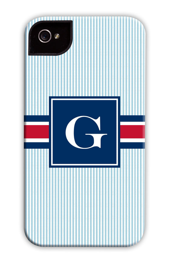 Pin Stripe Blue Phone Case