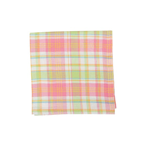 Monogrammed Palm Beach Plaid Napkins/Set of 4