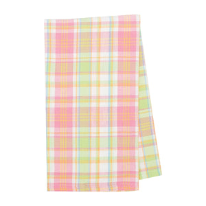 Monogrammed Palm Beach Plaid Hand Towel