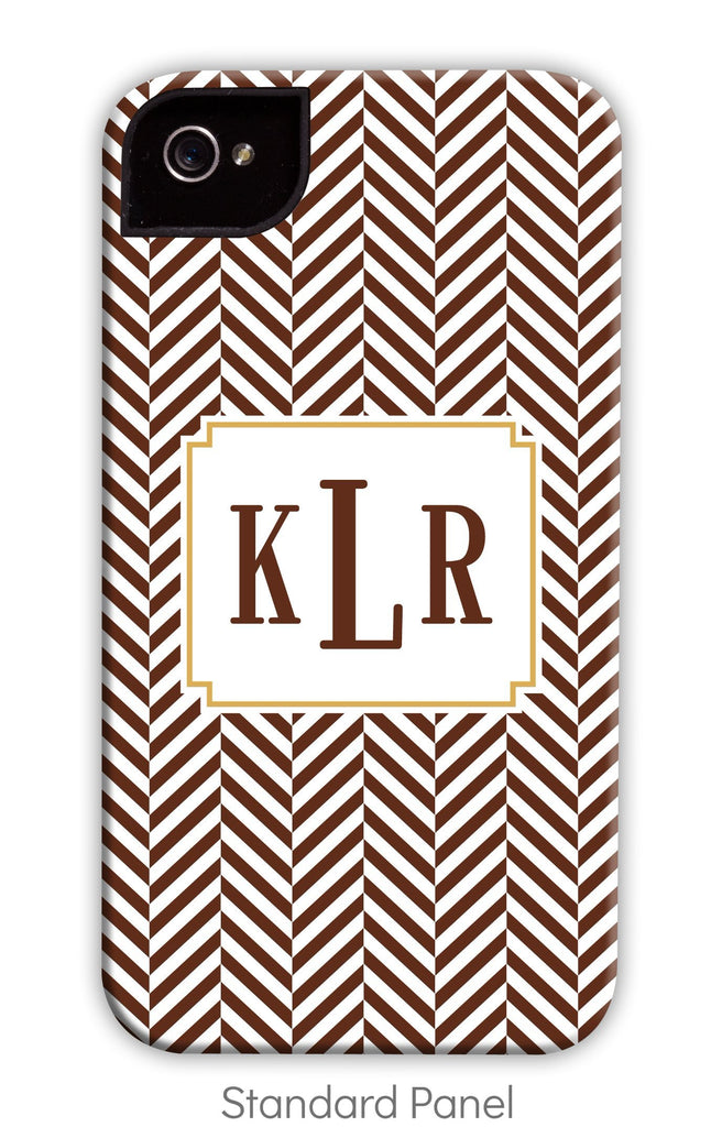 Herringbone Chocolate Phone Case