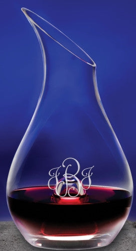 Monogrammed Essence Wine Decanter