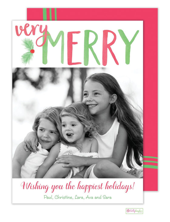 Very Merry Holiday Photo Card