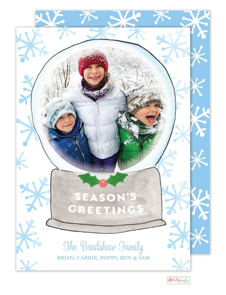 Snow Globe Holiday Photo Card